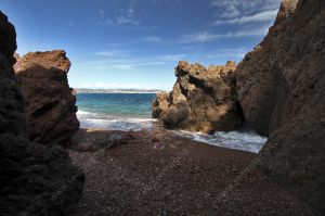 Theoule sur Mer rocky inlet