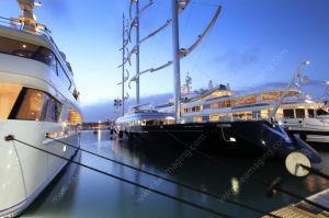 Superyacht at Port Vauban