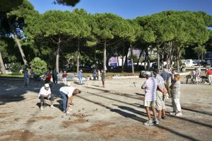 Petanque player in Juan les Pins