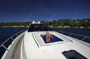 Relaxing on a Riva 68