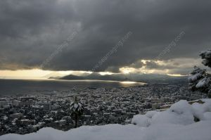 Cannes under the snow