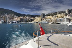 View of Port Hercule from a yacht